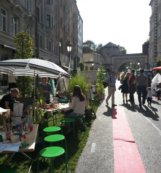 Parking Day Sendlinger Straße, 19.09.2014. Foto: Michaila Kuehn