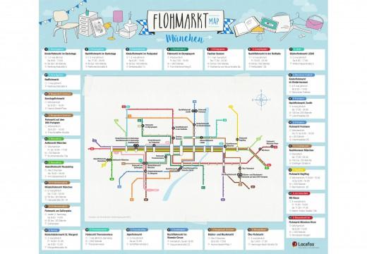 Flohmarkt-Map für München, Grafik: www.locafox.de