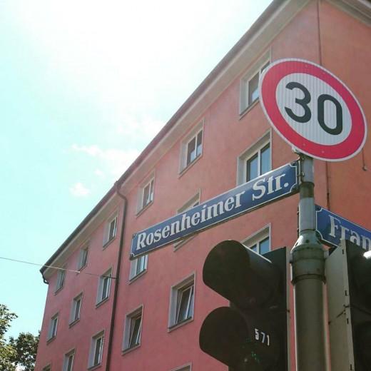 Tempo 30, Rosenheimerstraße, Foto: Christian Grundmann