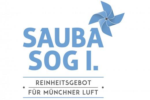 Logo Buergerbegehren für saubere Luft in München, Sauba sog i - Reinheitsgebot für Münchner Luft