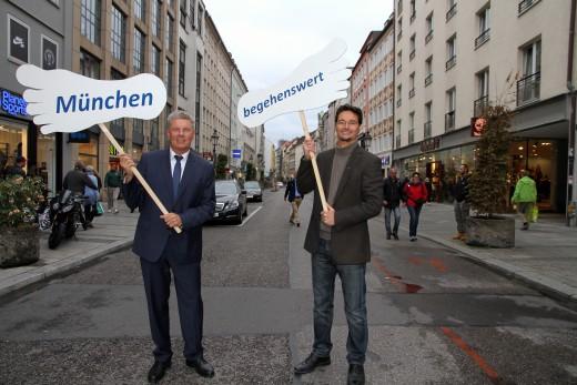 Oberbürgermeister Dieter Reiter in der Sendlinger Straße
