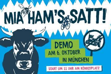 "Demo ""Mia ham's satt"": Saubere Luft statt Verkehrskollaps"